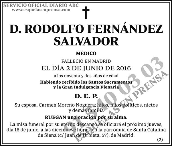 Rodolfo Fernández Salvador